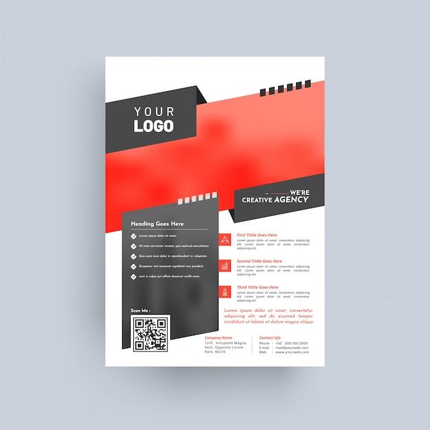 デザイン年次報告書、表紙、ベクターテンプレートパンフレット、チラシ、プレゼンテーション、リーフレット Premiumベクター