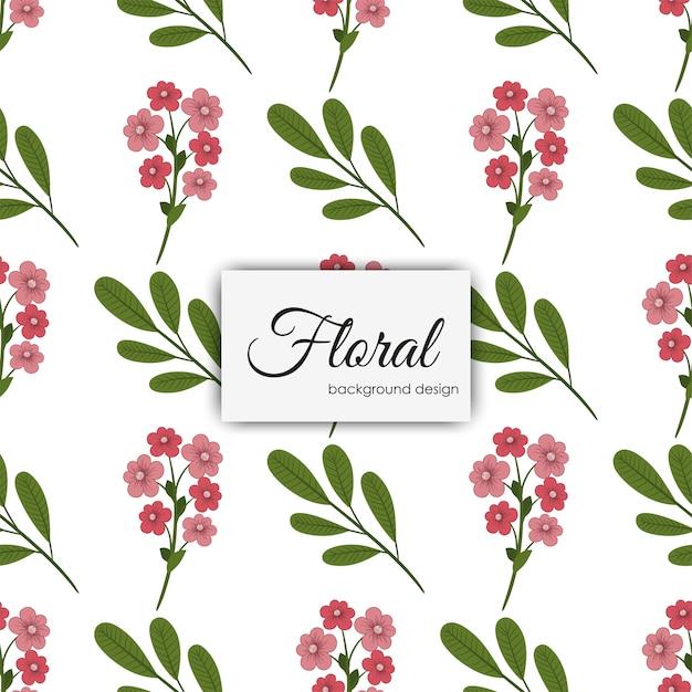花のイラストのパターン Premiumベクター