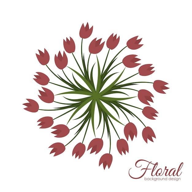 花の背景イラスト ベクター画像 無料ダウンロード