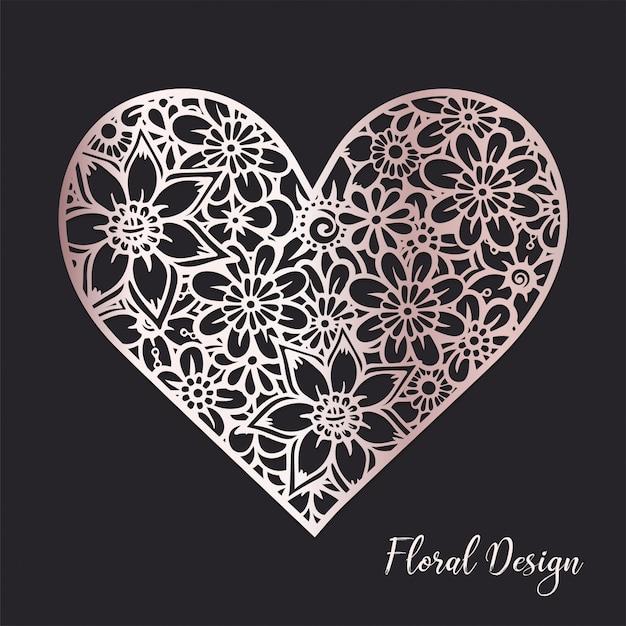 Цветочный состав сердца. Бесплатные векторы