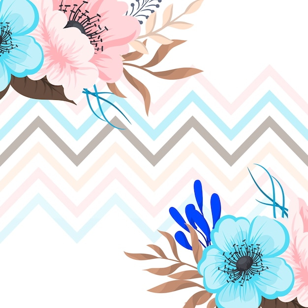 Поздравительная открытка с цветами, акварель. векторные рамки Бесплатные векторы