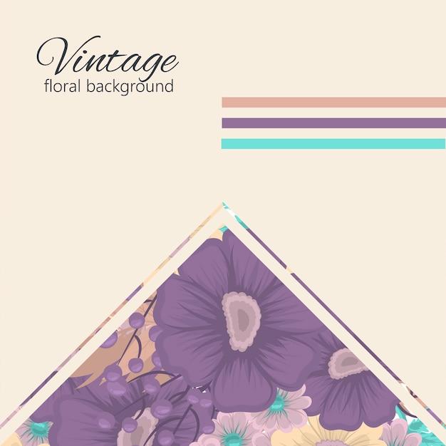 Поздравительная открытка с цветами Бесплатные векторы