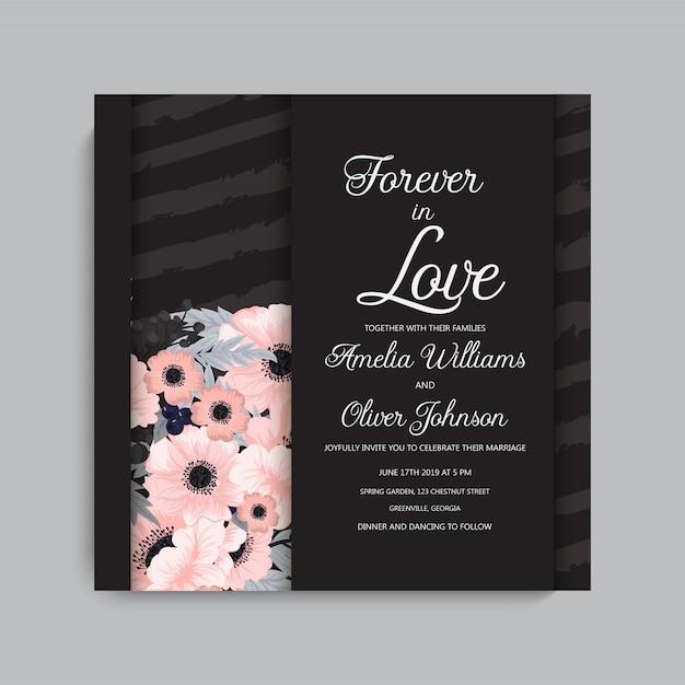 花とグリーティングカード、水彩画。ベクトルフレーム 無料ベクター