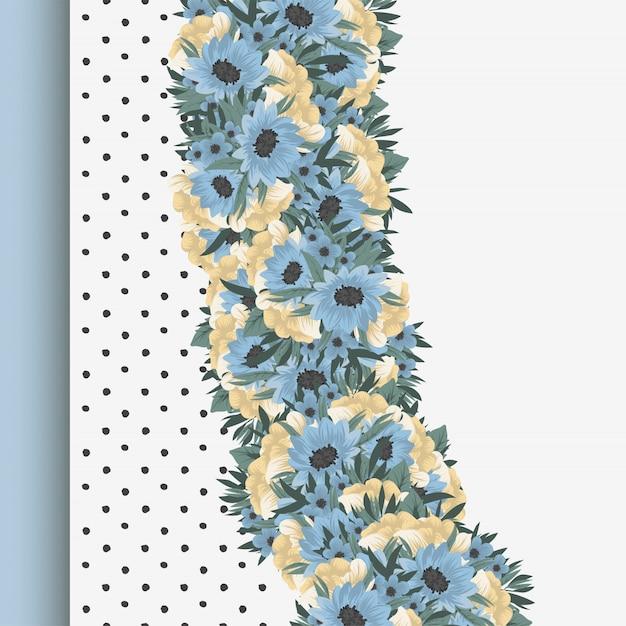 植物グリーティングカード招待状のデザインテンプレート 無料ベクター
