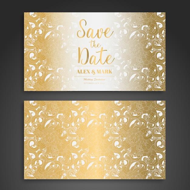 Дизайн свадебных открыток Бесплатные векторы