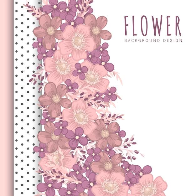 花の境界線の背景 無料ベクター
