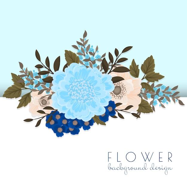 花と葉のイラスト 無料ベクター