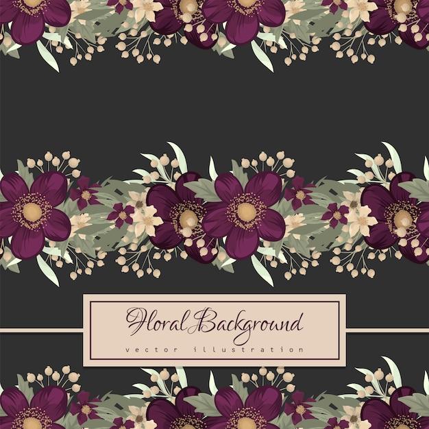 紫花柄シームレス 無料ベクター
