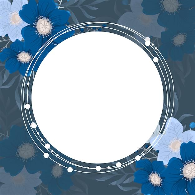 Фон цветок - красный, светло-голубой, белый венок цветы Бесплатные векторы