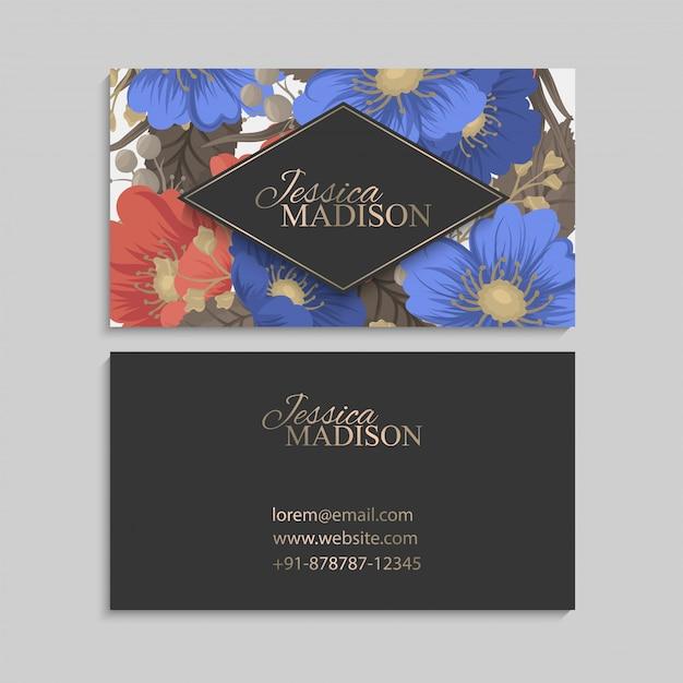 Граница цветочный дизайн - рамка из цветов Premium векторы