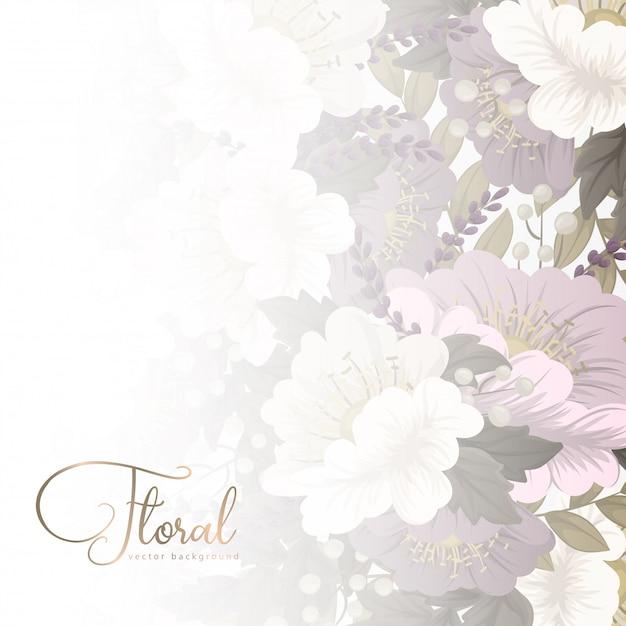 花柄ボーダー-ピンクの花 無料ベクター