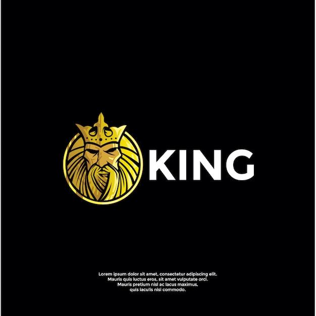 Роскошный король логотип шаблон Premium векторы