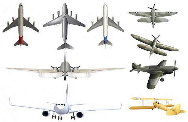 白背景に軍の航空機 無料ベクター