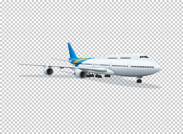 Самолет на прозрачном фоне Бесплатные векторы