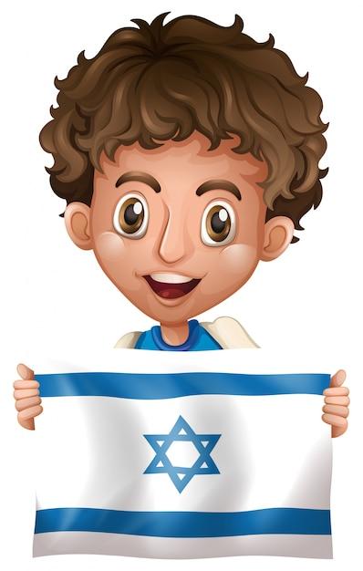 Картинка мальчика с флагом
