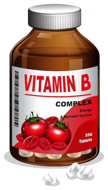 Картинка витаминов в бутылочке