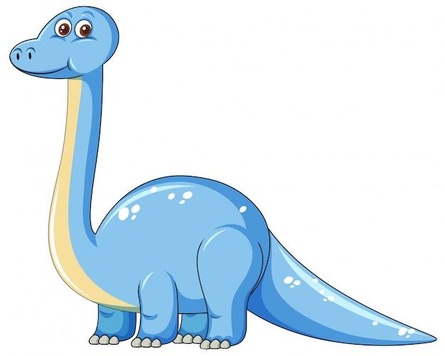 かわいい青い恐竜キャラクター 無料ベクター