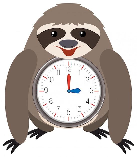 薄いテーマの時計の白い背景 無料ベクター