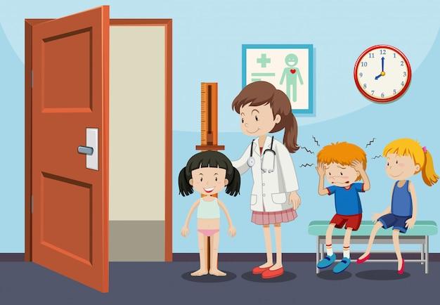 子どもの健康診断を受ける Premiumベクター