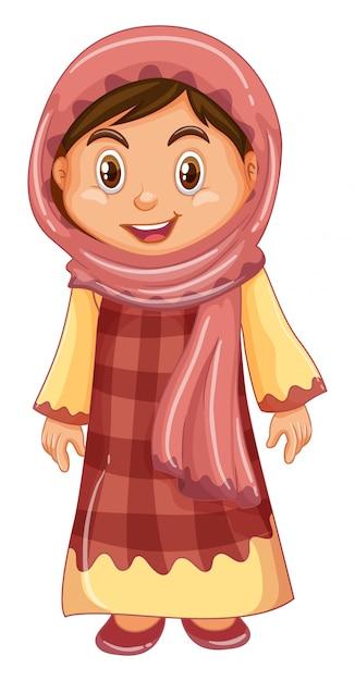 Ирак девушка в традиционном костюме Бесплатные векторы