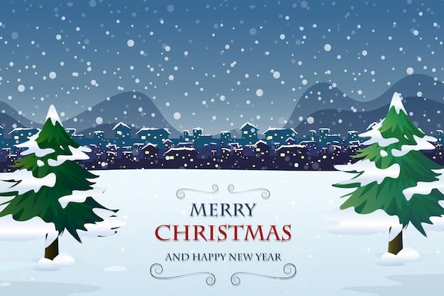 メリークリスマスドアテンプレート Premiumベクター