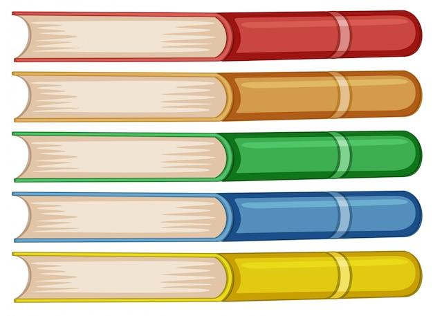 異なる色の本のセット 無料ベクター