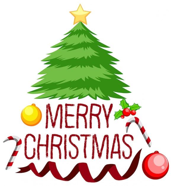 メリークリスマスツリーコンセプト 無料ベクター