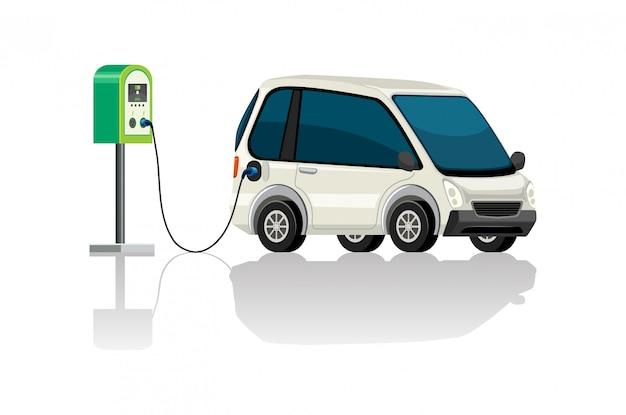 電気自動車充電ステーション 無料ベクター
