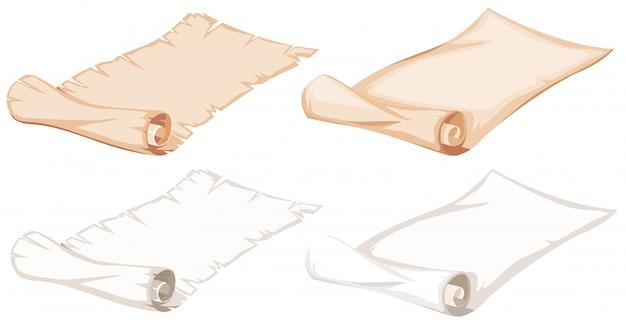 Набор бумажных рулонов Бесплатные векторы