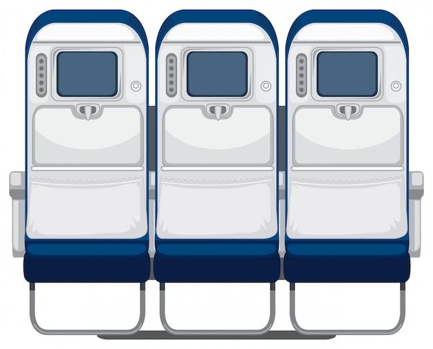 Задняя часть сиденья самолета Бесплатные векторы