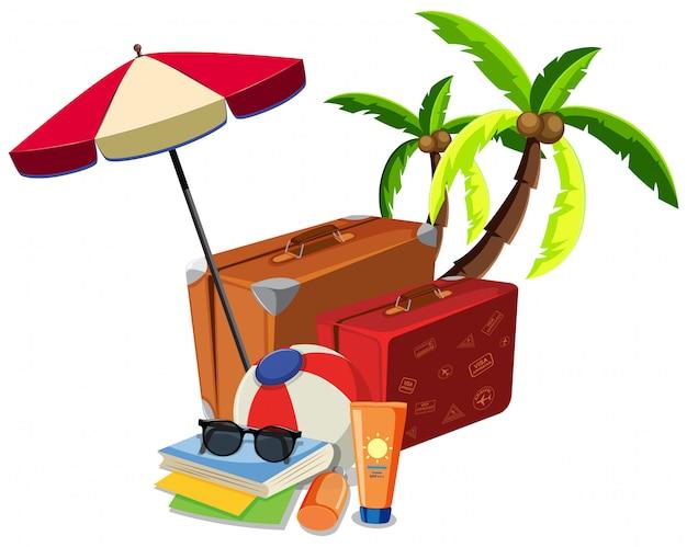Пляжный летний туристический объект Бесплатные векторы