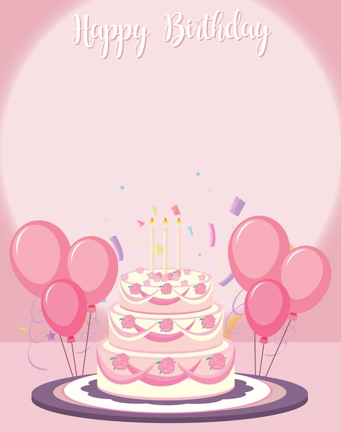 誕生日カードのテンプレート 無料ベクター