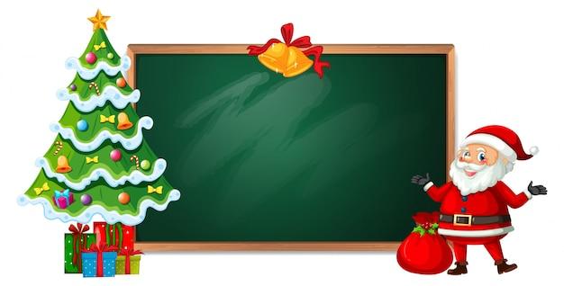 黒板バナーのクリスマス Premiumベクター