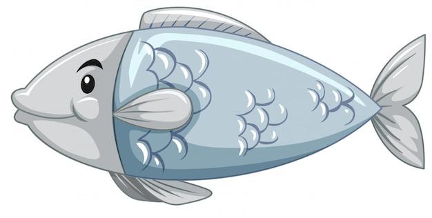 簡単な魚の漫画のキャラクター 無料ベクター