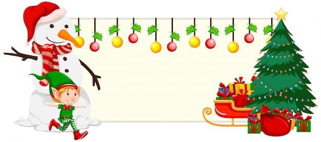 Рождественский праздничный баннер концепция Бесплатные векторы