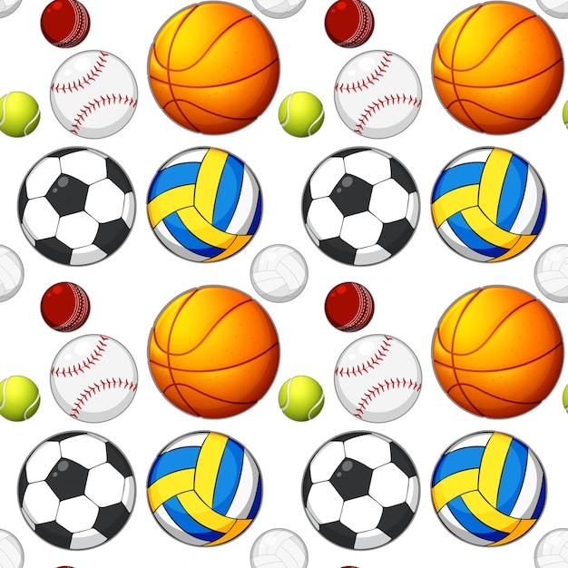 シームレスなボールパターンのコンセプト 無料ベクター