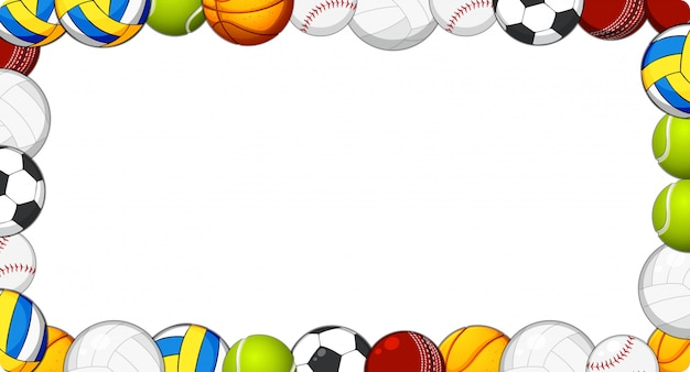 スポーツボールフレームの背景 無料ベクター