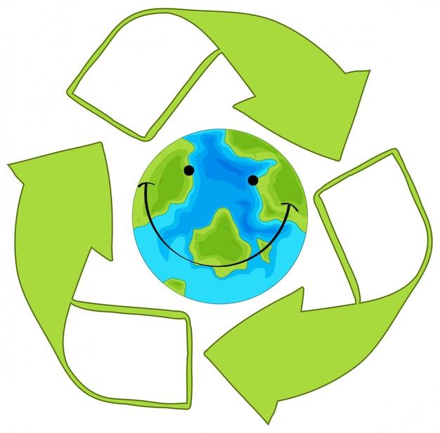 緑の地球をリサイクル 無料ベクター