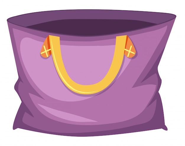 ラージパープルトートバッグ 無料ベクター