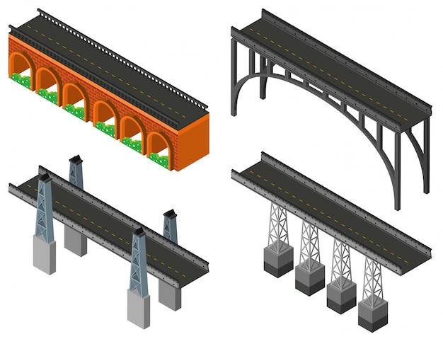 異なるデザインのブリッジ 無料ベクター
