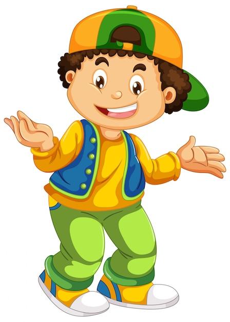 都会の男の子キャラクター 無料ベクター