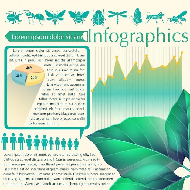 葉のインフォグラフィック 無料ベクター
