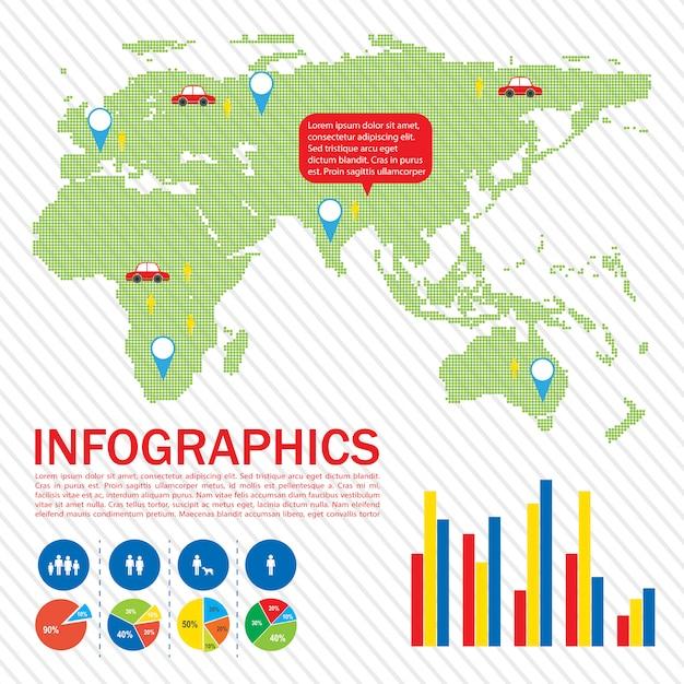 地図のグラフィカルインターフェース 無料ベクター