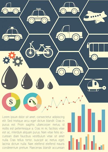 交通手段を示すグラフィックモデル 無料ベクター