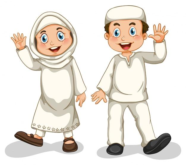 Мусульмане Бесплатные векторы