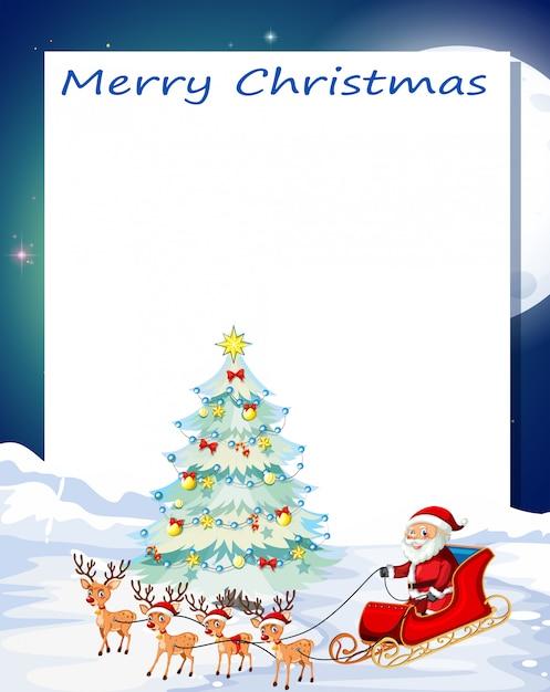 メリークリスマスカード 無料ベクター