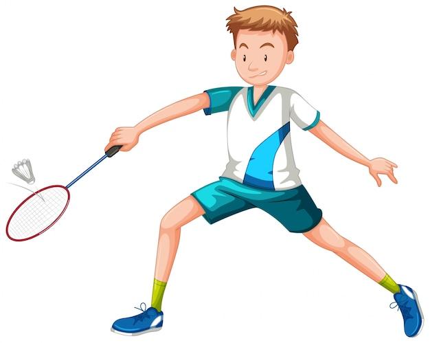テニスをしている男 無料ベクター
