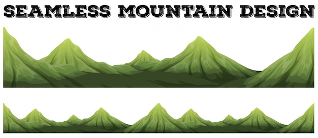 シームレスな山脈 無料ベクター