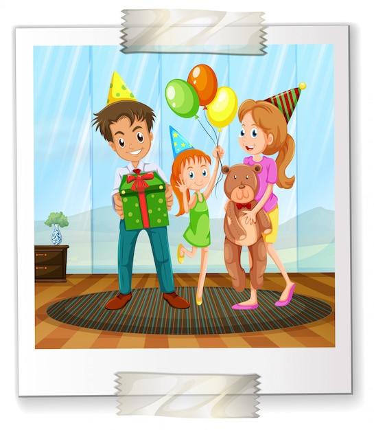 家族の写真 Premiumベクター