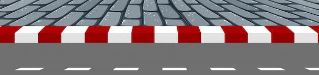Сцена дорожки дороги Бесплатные векторы